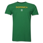 Dominica CONCACAF Distressed Men's Fashion T-Shirt (Green)
