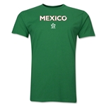 Mexico CONCACAF Distressed Men's Fashion T-Shirt (Green)