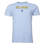 St. Lucia CONCACAF Distressed Men's Fashion T-Shirt (Sky Blue)