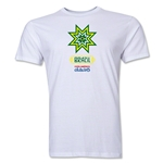 Brazil Copa America 2015 Banderas Men's Fashion T-Shirt (White)
