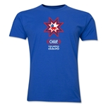 Chile Copa America 2015 Banderas Men's Fashion T-Shirt (Royal)