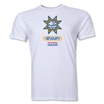Uruguay Copa America 2015 Banderas Men's Fashion T-Shirt (White)