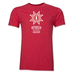 Peru Copa America 2015 Banderas Men's Fashion T-Shirt (Heather Red)
