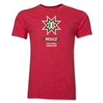 Mexico Copa America 2015 Banderas Men's Fashion T-Shirt (Heather Red)