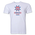 Paraguay Copa America 2015 Banderas Men's Fashion T-Shirt (White)