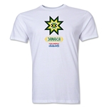 Jamaica Copa America 2015 Banderas Men's Fashion T-Shirt (White)
