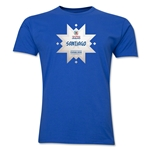 Santiago Host City Copa America 2015 Men's Fashion T-Shirt (Royal)