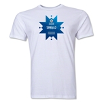 Temuco Host City Copa America 2015 Banderas Men's Fashion T-Shirt (White)