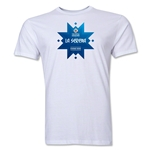 La Serena Host City Copa America 2015 Banderas Men's Fashion T-Shirt (White)