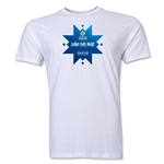 Vina del Mar Host City Copa America 2015 Banderas Men's Fashion T-Shirt (White)