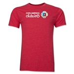 Copa America 2015 Core Landscape Men's Fashion T-Shirt (Heather Red)
