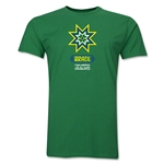 Brazil Copa America 2015 Banderas Men's Fashion T-Shirt (Green)