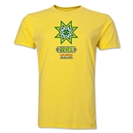 Brazil Copa America 2015 Banderas Men's Fashion T-Shirt (Yellow)