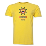 Colombia Copa America 2015 Banderas Men's Fashion T-Shirt (Yellow)