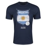 Argentina Copa America 2015 Badge Fashion T-Shirt (Navy)