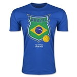 Brazil Copa America 2015 Badge Fashion T-Shirt (Blue)