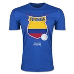 Colombia Copa America 2015 Badge Fashion T-Shirt (Blue)