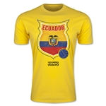 Ecuador Copa America 2015 Badge Fashion T-Shirt (Yellow)