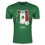 Mexico Copa America 2015 Badge Fashion T-Shirt (Green)