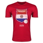 Paraguay Copa America 2015 Badge Fashion T-Shirt (Red)