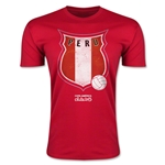 Peru Copa America 2015 Badge Fashion T-Shirt (Red)