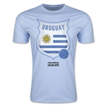Uruguay Copa America 2015 Badge Fashion T-Shirt (Sky Blue)