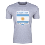 Argentina Copa America 2015 Shield Fashion T-Shirt (Grey)