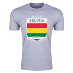 Bolivia Copa America 2015 Shield Fashion T-Shirt (Grey)