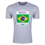 Brazil Copa America 2015 Shield Fashion T-Shirt (Grey)