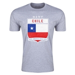 Chile Copa America 2015 Shield Fashion T-Shirt (Grey)