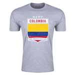 Colombia Copa America 2015 Shield Fashion T-Shirt (Grey)