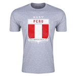 Peru Copa America 2015 Shield Fashion T-Shirt (Grey)