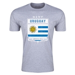 Uruguay Copa America 2015 Shield Fashion T-Shirt (Grey)