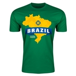 Brazil Copa America 2015 Fashion T-Shirt (Green)