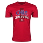 Chile Copa American 2015 Champions Men's Fashion T-Shirt (Red)