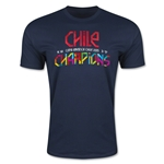 Chile Copa American 2015 Champions Men's Fashion T-Shirt (Navy)