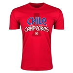 Chile Spanish Champions Trophy Men's Fashion T-Shirt (Red)