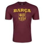 Barcelona Distressed Men's Fashion T-Shirt (Maroon)