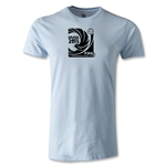 FIFA Confederations Cup 2013 Men's Fashion Emblem T-Shirt (Sky Blue)