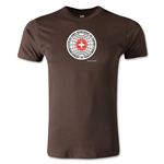 1954 FIFA World Cup Logo Men's Fashion T-Shirt (Brown)