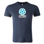 1970 FIFA World Cup Logo Men's Fashion T-Shirt (Navy)