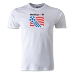 1994 FIFA World Cup Logo Men's Fashion T-Shirt (White)