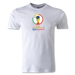 2002 FIFA World Cup Logo Men's Fashion T-Shirt (White)