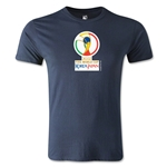 2002 FIFA World Cup Logo Men's Fashion T-Shirt (Navy)