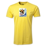 2010 FIFA World Cup Logo Men's Fashion T-Shirt (Yellow)