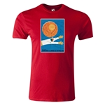 1954 FIFA World Cup Historical Poster Men's Fashion T-Shirt (Red)