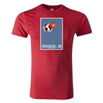 1962 FIFA World Cup Historical Poster Men's Fashion T-Shirt (Heather Red)
