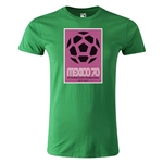 1970 FIFA World Cup Historical Poster Men's Fashion T-Shirt (Green)