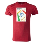 2002 FIFA World Cup Historical Poster Men's Fashion T-Shirt (Heather Red)