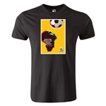 2010 FIFA World Cup Historical Poster Men's Fashion T-Shirt (Black)